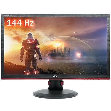 """AOC 24"""" LED - G2460PF 1920 x 1080 pixels - 1 ms (gris à gris) - Format large 16/9 - Pivot - DisplayPort - HDMI - 144 Hz - Hub USB - Noir"""