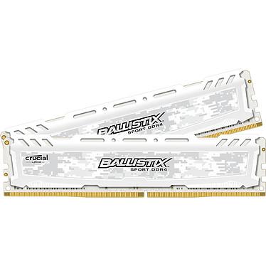 Ballistix Sport LT White 32 Go (2 x 16 Go) DDR4 2400 MHz CL17 Kit Dual Channel RAM DDR4 PC4-19200 - BLS2C16G4D240FSC (garantie 10 ans par Crucial)