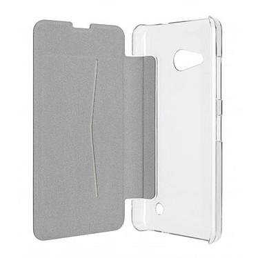 xqisit Etui Flap Cover Adour Blanc Microsoft Lumia 550 pas cher