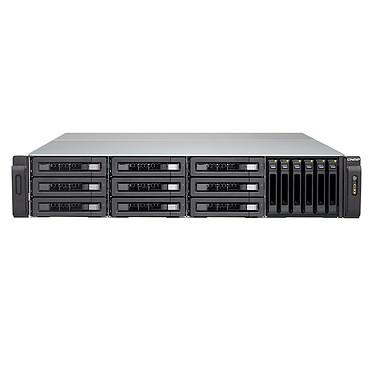 QNAP TVS-EC1580MU-SAS-RP-16G Serveur NAS professionnel 15 baies SATA 6 Gbps compatible SAS 12 Gbps avec alimentation redondante et 16GB DDR3 non-ECC RAM