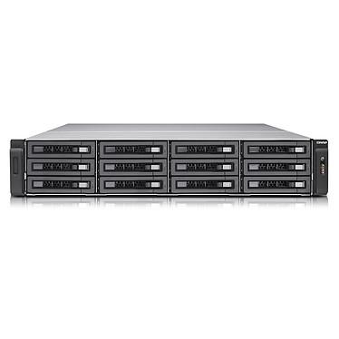 QNAP TVS-EC1280U-SAS-RP-8GE Serveur NAS professionnel 12 baies SATA 6 Gbps compatible SAS 12 Gbps avec alimentation redondante et 8GB DDR3 ECC RAM