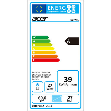 """Acer 27"""" LED - G277HLbid pas cher"""