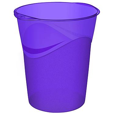 CEP Happy Corbeille à papier Violette 14 litres Poubelle à papier en polypropylène de 14 litres 305 x 290 x 334 mm