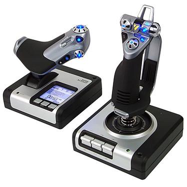 Saitek X52 Flight Control System + Elite : Dangerous OFFERT ! Joystick avec manette des gaz et écran de contrôle pour simulateur de vol + Jeu Elite Dangerous offert !