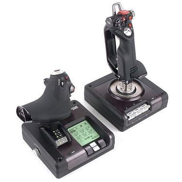 Logitech G Saitek X52 Pro Flight Control System + Elite : Dangerous OFFERT ! Joystick avec manette des gaz et écran de contrôle pour simulateur de vol + Jeu Elite : Dangerous offert !