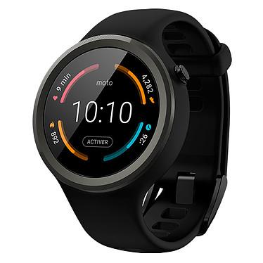 Motorola Moto 360 Sport 2ème Génération Montre sport connectée Bluetooth Wi-Fi sous Android Wear certifiée IP67 avec écran LCD tactile 42 mm GPS et bracelet en silicone