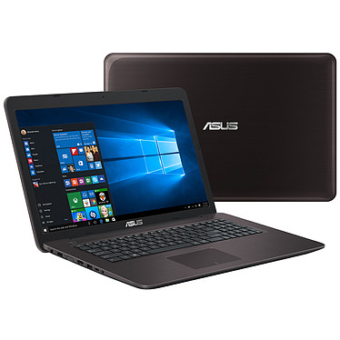 "ASUS R753UX-T7006T Marron Intel Core i5-6200U 8 Go SSD 128 Go + HDD 1 To 17.3"" LED Full HD NVIDIA GeForce GTX 950M Graveur DVD Wi-Fi N/Bluetooth Webcam Windows 10 Famille 64 bits (garantie constructeur 1 an)"