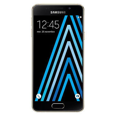 "Samsung Galaxy A3 2016 Or Smartphone 4G-LTE - Snapdragon 410 Quad-Core 1.5 Ghz - RAM 1.5 Go - Ecran tactile 4.7"" 720 x 1280 - 16 Go - NFC/Bluetooth 4.1 - 2300 mAh - Android 5.1"