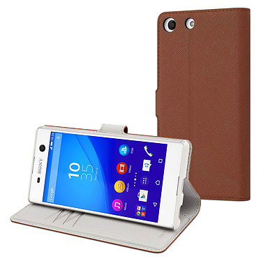 Made for Xperia Etui Wallet Folio Camel Sony Xperia M5 Etui de protection à clapet pour Sony Xperia M5