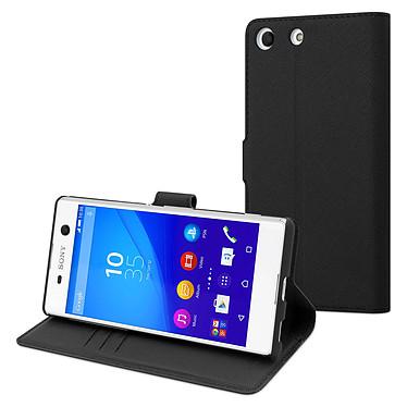 Made for Xperia Etui Wallet Folio Noir Sony Xperia M5 Etui de protection à clapet pour Sony Xperia M5