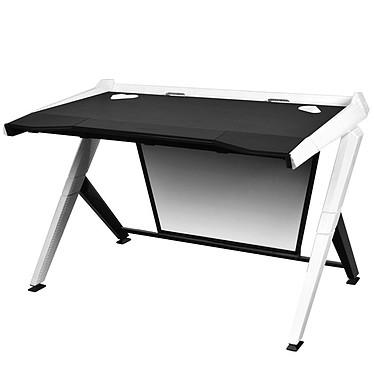 DXRacer Gaming Desk (blanc) Bureau ergonomique avec système de gestion des câbles pour gamer