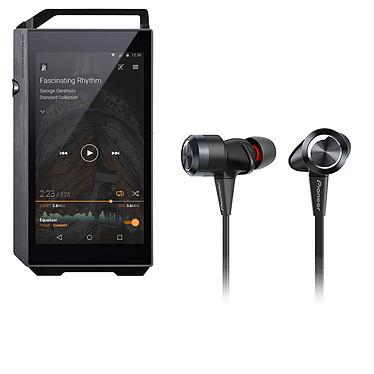 Pioneer XDP-100R Noir + Pioneer SE-CX7 Noir Lecteur High-Res audio HD et DAC 32 Go avec Bluetooth, WiFi et WiFi Direct + Écouteurs intra-auriculaires stéréo dynamique de type fermé
