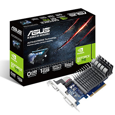 ASUS GT 710 GT710-1-SL 1 Go HDMI/DVI - PCI Express (NVIDIA GeForce avec CUDA GT 710)