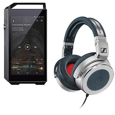 Pioneer XDP-100R Noir + Sennheiser HD 630 VB Lecteur High-Res audio HD et DAC 32 Go avec Bluetooth, WiFi et WiFi Direct + Micro-Casque circum-auriculaire fermé