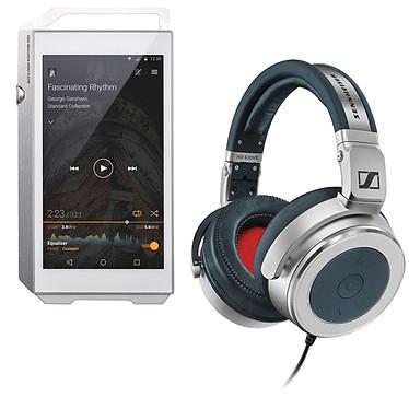Pioneer XDP-100R Argent + Sennheiser HD 630 VB Lecteur High-Res audio HD et DAC 32 Go avec Bluetooth, WiFi et WiFi Direct + Micro-Casque circum-auriculaire fermé
