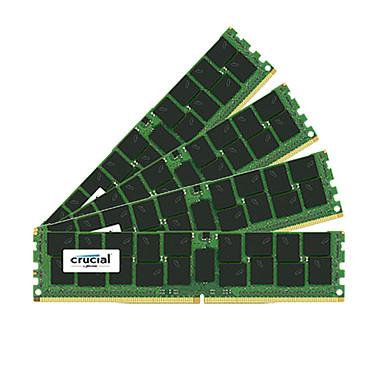 Crucial DDR4 64 Go (4 x 16 Go) 2400 MHz CL17 ECC Registered DR X4 Kit Quad Channel RAM DDR4 PC4-19200 - CT4K16G4RFD424A (garantie 10 ans par Crucial)