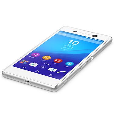 Sony Xperia M5 Dual SIM Blanc + Etui Folio Noir pas cher