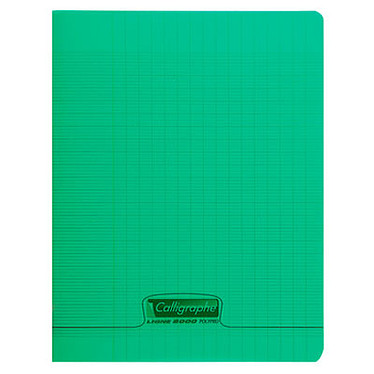 Calligraphe 8000 Polypro Cahier 96 pages 17 x 22 cm seyes grands carreaux Vert