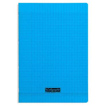 Calligraphe Cuaderno 8000 Polypro 96 páginas 21 x 29,7 cm con cuadrados grandes Azul Cuaderno de 96 páginas 90g A4 en encuadernación acolchada con funda de polipropileno