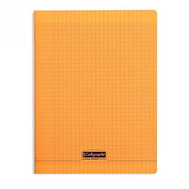 Calligraphe 8000 Polypro Cahier 96 pages 24 x 32 cm seyes grands carreaux Orange