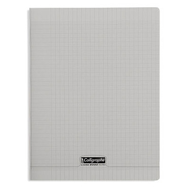 Calligraphe 8000 Polypro Cahier 96 pages 24 x 32 cm seyes grands carreaux Gris