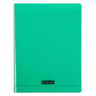 Calligraphe 8000 Polypro Cahier 96 pages 24 x 32 cm seyes grands carreaux Vert