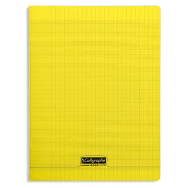 Calligraphe 8000 Polypro Cahier 96 pages 24 x 32 cm seyes grands carreaux Jaune
