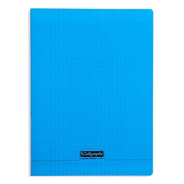 Calligraphe 8000 Polypro Cahier 96 pages 24 x 32 cm seyes grands carreaux Bleu