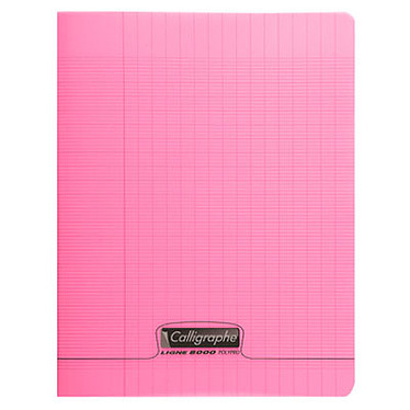 Calligraphe 8000 Polypro Cahier 96 pages 24 x 32 cm seyes grands carreaux Rose
