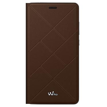 Wiko Etui Cover Back Jetlines Chocolat Pulp 4G Coque pour Pulp 4G