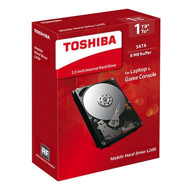 """Toshiba L200 1To Disque dur 2.5"""" 9.5mm 1 To 5400 RPM 8 Mo Serial ATA II"""