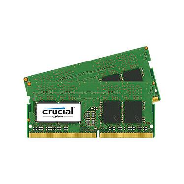 Crucial SO-DIMM DDR4 16 Go (2 x 8 Go) 2400 MHz CL17 SR X8 Kit Dual Channel RAM DDR4 PC4-19200 - CT2K8G4SFS824A (garantie à vie par Crucial)