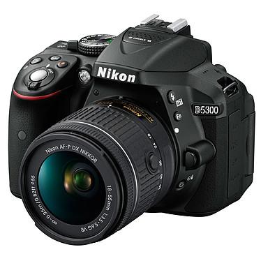 """Nikon D5300 + AF-P 18-55MM F/3.5-5.6G VR 24.2 MP DSLR - Pantalla de 3.2"""" - Vídeo Full HD + AF-P 18-55MM Lente F/3.5-5.6G VR"""