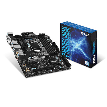 MSI C236M WORKSTATION Carte mère Micro ATX Socket 1151 Intel C236 - SATA 6Gb/s - SATA Express - 2x PCI Express 3.0 16x