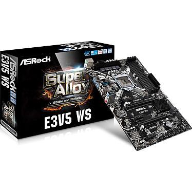ASRock E3V5 WS Carte mère ATX Socket 1151 Intel C232 - SATA 6Gb/s - 2x PCI Express 3.0 16x - 1x Gigabit LAN