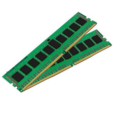Kingston ValueRAM 8 Go (2x 4 Go) DDR4 2133 MHz CL15 SR X8 Kit Dual-Channel DDR4 PC4-17000 - KVR21N15S8K2/8 (garantie 10 ans par Kingston)
