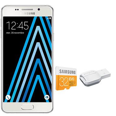Samsung Galaxy A3 2016 Blanc + microSDHC 32 Go