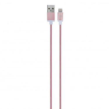 xqisit Charge and Sync USB/Lightning Cable Rose/Or Câble USB vers Lightning
