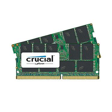Crucial SO-DIMM DDR4 ECC 32 Go (2 x 16 Go) 2400 MHz CL17 Kit Dual Channel RAM DDR4 PC4-19200 - CT2K16G4TFD824A (garantie 10 ans par Crucial)