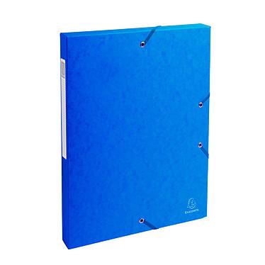 Exacompta boite de classement Exabox dos 25 mm Bleu Boite de classement avec dos de 25 mm en carte lustré 600 g 24x32 cm Bleu