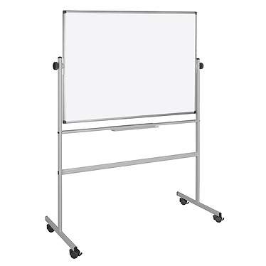 Bi-Office Tableau Blanc Pivotant laqué 150 x 120 cm
