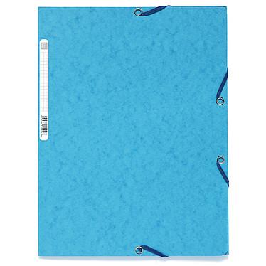 Exacompta Chemises 3 rabats élastiques 400g Turquoise x 25 Lot de 25 chemises 3 rabats élastiques en carte lustrée 400g format A4 Turquoise