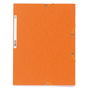 Exacompta Chemises 3 rabats élastiques 400g Orange x 25 Lot de 25 chemises 3 rabats élastiques en carte lustrée 400g format A4 Orange