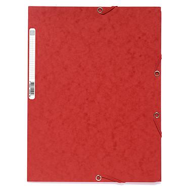 Exacompta Chemises 3 rabats élastiques 400g Rouge x 25