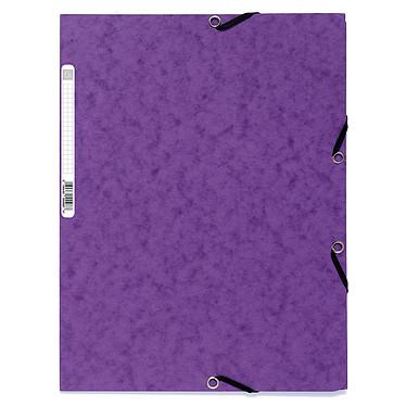 Exacompta Chemises 3 rabats élastiques 400g Violet x 25 Lot de 25 chemises 3 rabats élastiques en carte lustrée 400g format A4 Violet