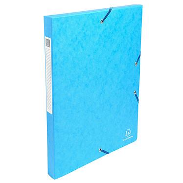 Exacompta Cajas de archivo Fondo Exabox 25 mm Turquesa x 8 Set de 8 archivadores con dorso de 25 mm en tarjeta brillante 600 g 24x32 cm Turquesa