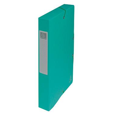 Exacompta Cajas de archivo Fondo Exabox 40 mm Verde x 8 Set de 8 archivadores con dorso de 40 mm en tarjeta brillante 600 g 24x32 cm Verde