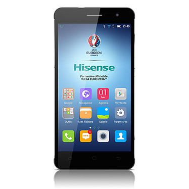 "Hisense C20 Noir Smartphone 4G-LTE Dual SIM IP67 - Snapdragon 415 8-Core 1.36 GHz - RAM 3 Go - Ecran tactile 5"" 720 x 1280 - 32 Go - Bluetooth 4.0 - 3100 mAh - Android 5.1"