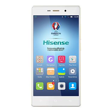 "Hisense H910 Blanc Smartphone 4G-LTE Dual SIM - Snapdragon 615 8-Core 1.5 GHz - RAM 2 Go - Ecran tactile 5.5"" 1080 x 1920 - 16 Go - Bluetooth 4.0 - 2700 mAh - Android 5.0"
