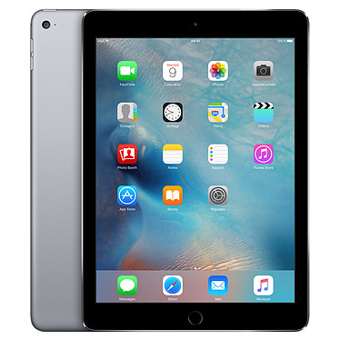"Apple iPad Air 2 128 Go Wi-Fi Gris Sidéral Tablette Internet - Apple A8X 1.4 GHz 1 Go SSD 128 Go 9.7"" LED tactile Wi-Fi N/Bluetooth Webcam iOS 8"